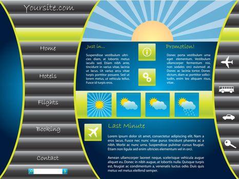 Colorful touristic website template design
