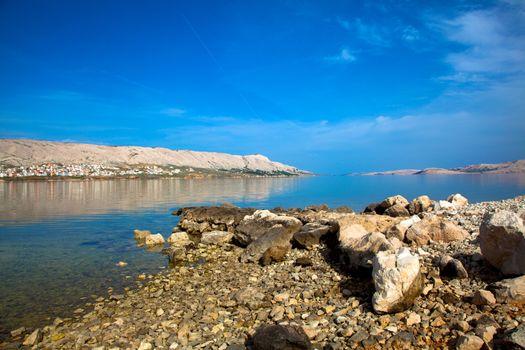 Adriatic beach in Pag, Croatia.