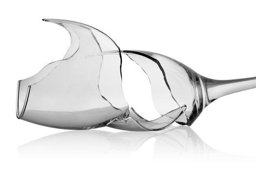 Shards of wineglass