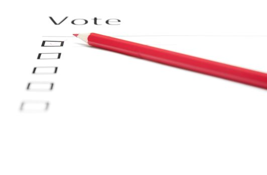 Voting bulletin