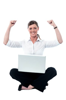 Successful female manager, studio shot