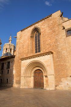 Valencia Cathedral romanesque door Puerta Palau Almoina