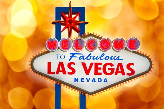 Welcome to Fabulous Las Vegas sign blurred highlights