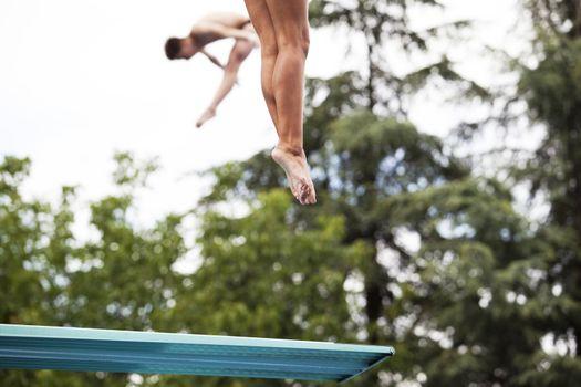 Springboard jump