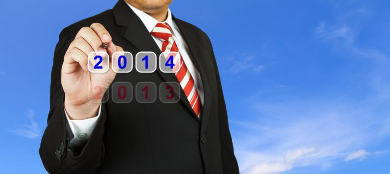 Businessman with 2014