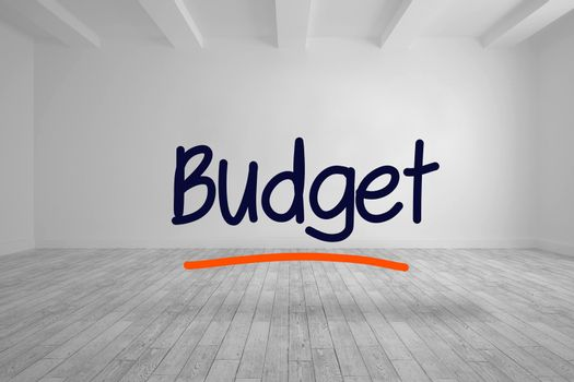 Budget written in bright room