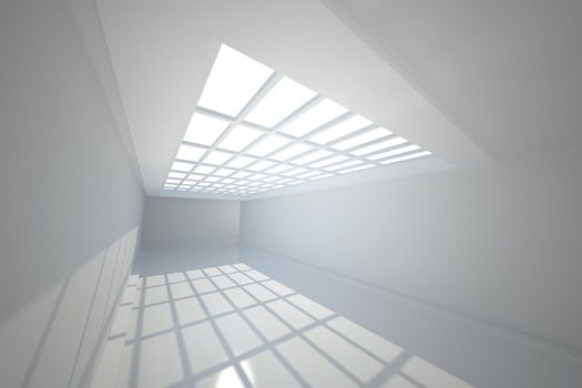 Room with windows at ceiling