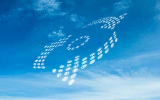 Dotted arrows in the sky