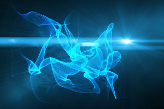 Glowing swirl on black background