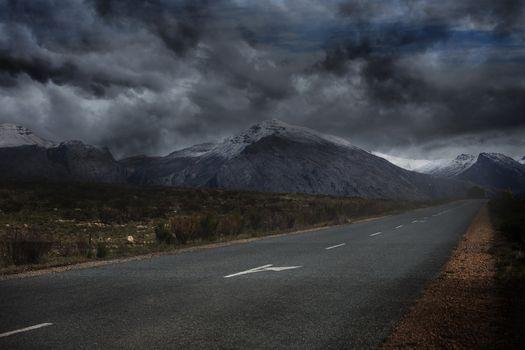 Landscape with stormy sky