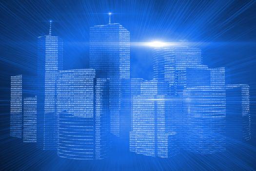 Futuristic shiny cityscape