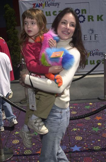Madeline Stowe and Daughter at the Education Works benefit to promote after-school activities, Universal Studios Hollywood, 03-25-00