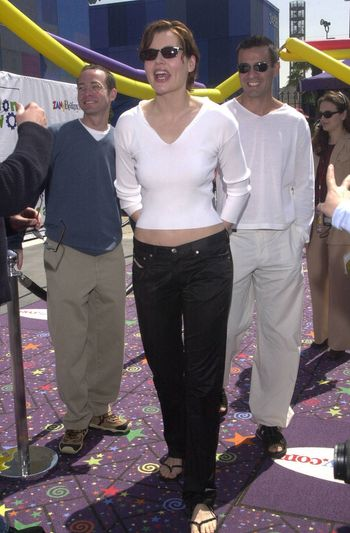 Geena Davis and Boyfriend at the Education Works benefit to promote after-school activities, Universal Studios Hollywood, 03-25-00