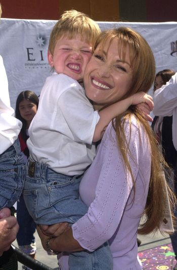 Jane Seymour and Son at the Education Works benefit to promote after-school activities, Universal Studios Hollywood, 03-25-00