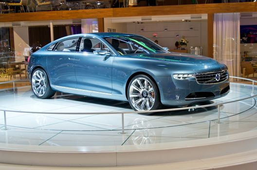 "MOSCOW-SEPTEMBER 6: Volvo ""CONCEPT YOU"" at the Moscow International Automobile Salon on September 6,2012 in Moscow"