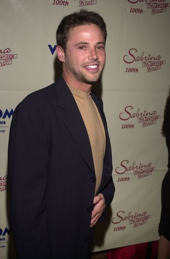 """David Lascher at the party to celebrate the 100th episode of """"Sabrina the Teenage Witch"""" in Hollywood, 10-23-00"""