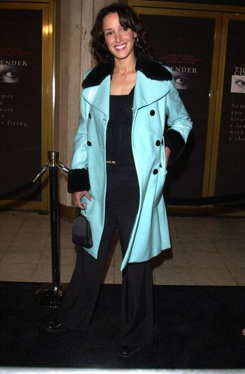 """Jennifer Beals at the premiere of Dreamworks """"The Contender"""" in Westwood, 10-05-00"""