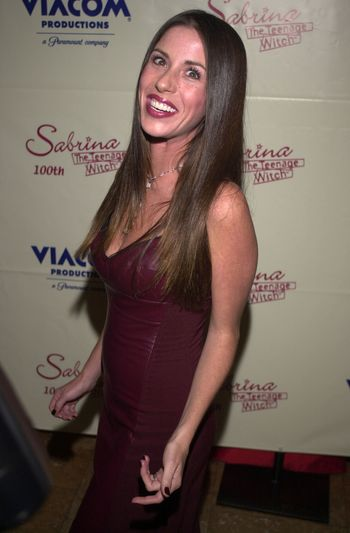 """Soleil Moon Frye at the party to celebrate the 100th episode of """"Sabrina the Teenage Witch"""" in Hollywood, 10-23-00"""