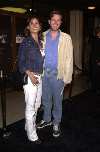 """Cary Elwes and wife Lisa Marie at the premiere of Dreamworks """"The Contender"""" in Westwood, 10-05-00"""