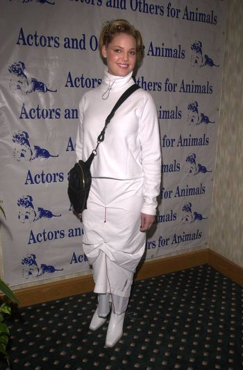 Katherine Heigl at the Actors and Others for Animals benefit, Universal City, 10-21-00
