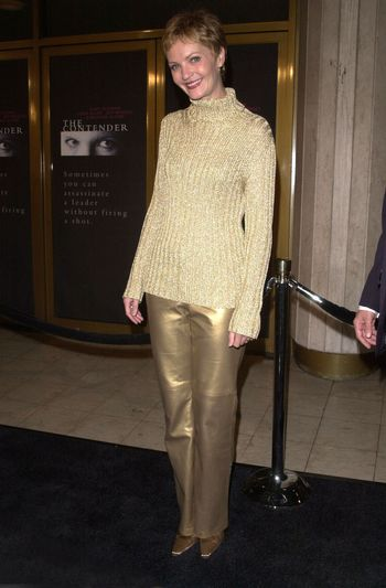 """Joan Allen at the premiere of Dreamworks """"The Contender"""" in Westwood, 10-05-00"""