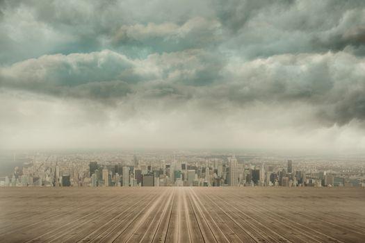 Cityscape on the horizon
