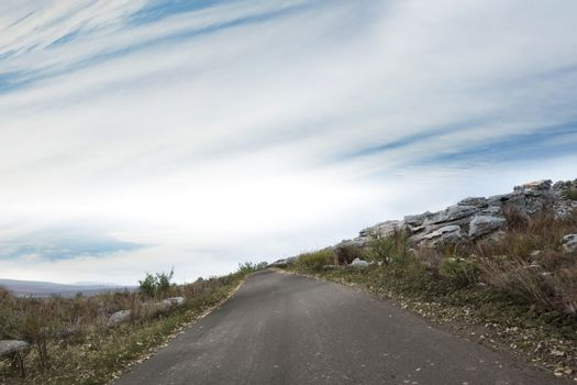 Road leading out to the horizon