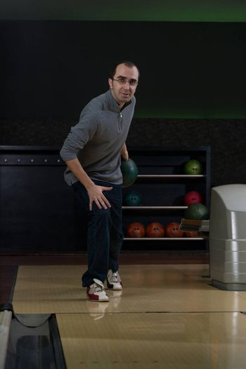 Portrait Of A Bowler With An Intense Look