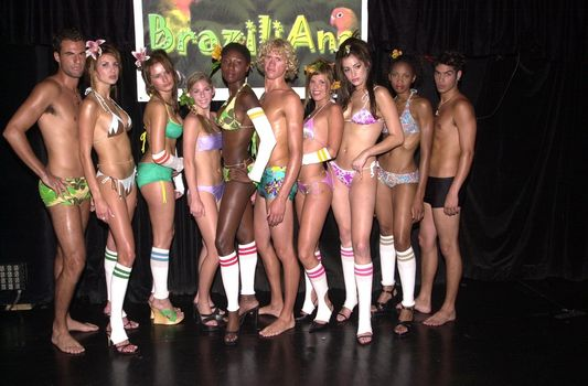 Braziliana Models at the Moviemaking Technology Showcase, featuring cutting edge movie technology, as well as two fashion shows, The Century Club, Century City, CA, 09-03-02