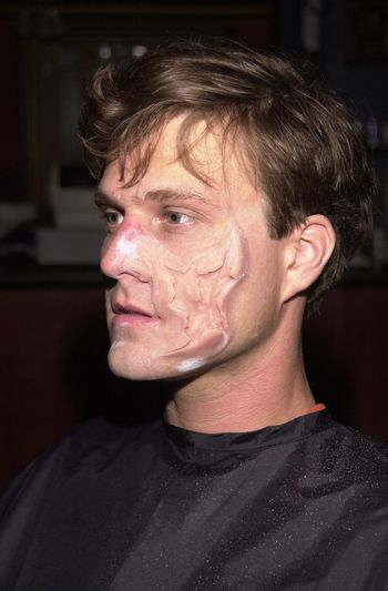 Make-Up demonstration at the Moviemaking Technology Showcase, featuring cutting edge movie technology, as well as two fashion shows, The Century Club, Century City, CA, 09-03-02