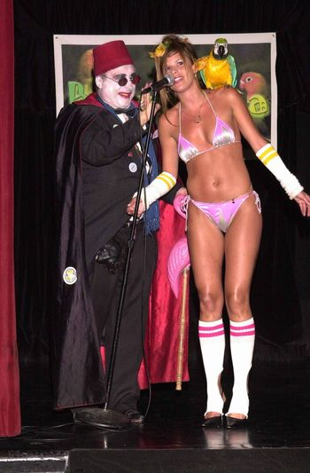 Count Smokula and Braziliana Designer Ana B at the Moviemaking Technology Showcase, featuring cutting edge movie technology, as well as two fashion shows, The Century Club, Century City, CA, 09-03-02