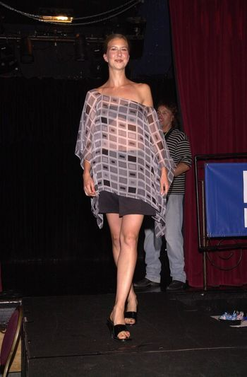 Model wearing the Camelot collection at the Moviemaking Technology Showcase, featuring cutting edge movie technology, as well as two fashion shows, The Century Club, Century City, CA, 09-03-02