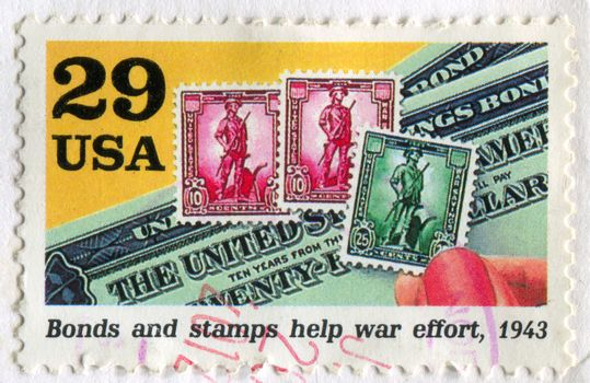 Bonds and stamps help war effort
