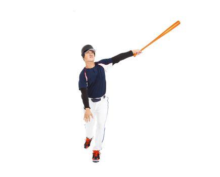 Baseball Batter Hitting Ball with Bat