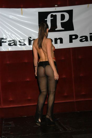 Model at the fashion show thrown by Fashion Paige, Barfly, West Hollywood, CA 12-27-02