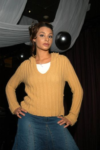 Lara La Rue at the fashion show thrown by Fashion Paige, Barfly, West Hollywood, CA 12-27-02