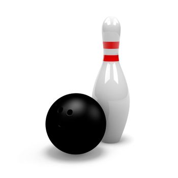 Skittle with Bowling Ball