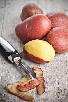 ecological peeled potatoes
