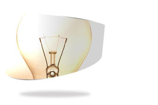 Lightbulb on abstract screen