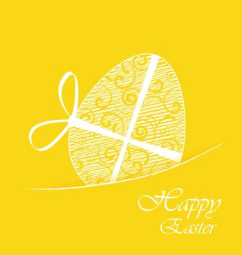Yellow background with Easter egg