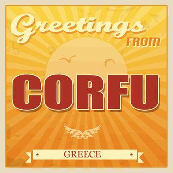 Corfu, Greece touristic poster
