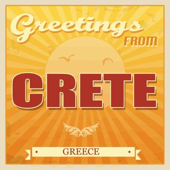Crete, Greece touristic poster