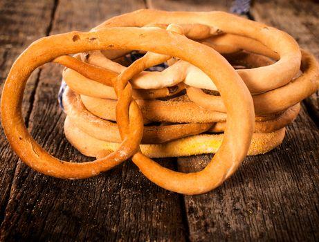 Group of pretzels