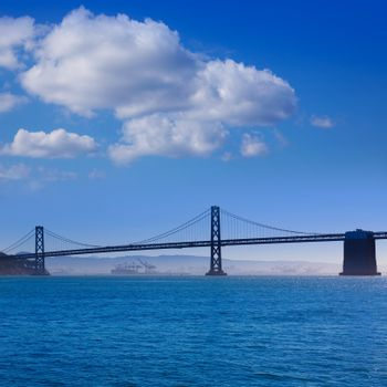San Francisco Bay bridge from Pier 7 California