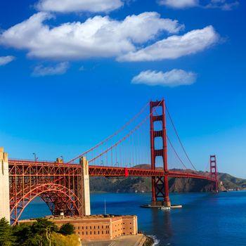 Golden Gate Bridge San Francisco from Presidio California