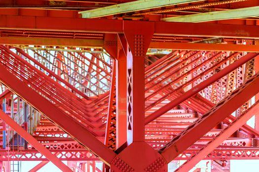 Golden Gate Bridge under details in San Francisco California