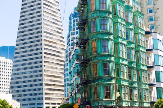 San Francisco Columbus Av with Karny St at California