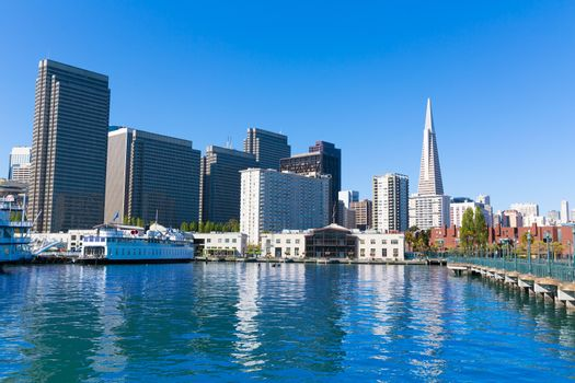 San Francisco downtown from pier 7 California