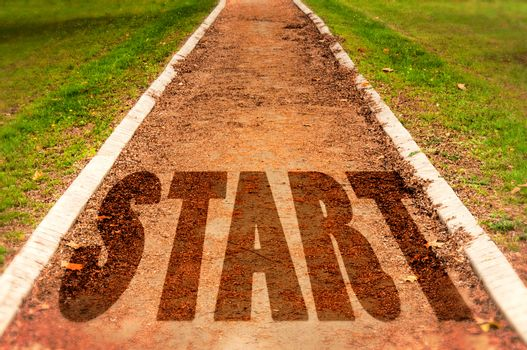 Start on track