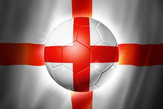 3D soccer ball with England team flag, world football cup Brazil 2014